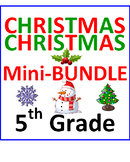 Christmas 5th Grade Mini-Bundle (2 Items)