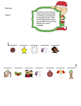 Spanish Christmas Activities 6-12/ Navidad