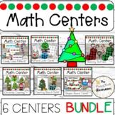 Christmas 6 Center Math Bundle Preschool   Winter   Counting   Shapes   Patterns