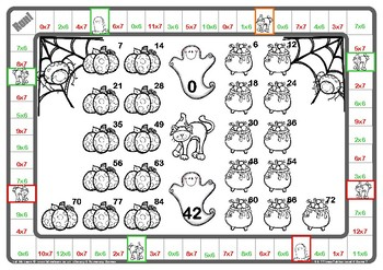 Halloween 6 and 7 Times Tables Games