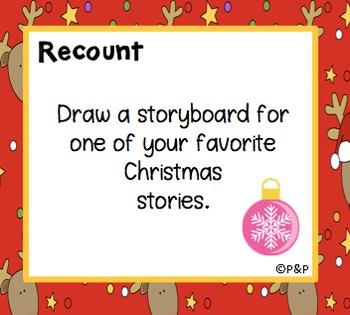 Christmas 72 Task Cards for Writer's Journal