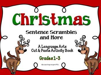 Christmas: A Bundle Of Math Task Cards and Language Arts Activities