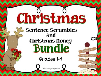 Christmas: A Bundle Of Math Task Cards and Language Arts A