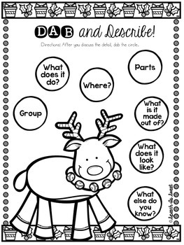Christmas: A Dab of Speech and Language Freebie!