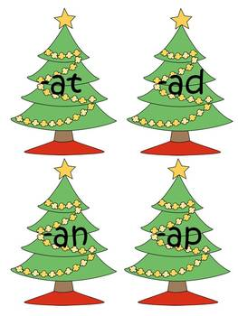 "Christmas ""A Families"" Word Work"