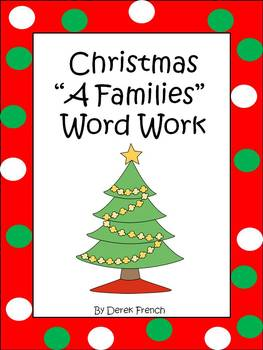 "Christmas ""A Families"" Word Work"