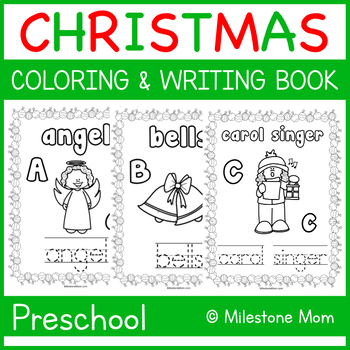 Christmas A-Z Coloring & Writing Book