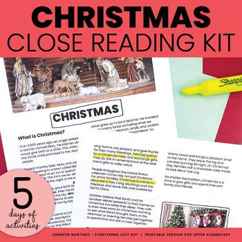 Christmas Mini-Unit | Christmas Close Reading and Writing Activities