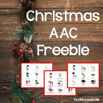 Christmas AAC Freebie