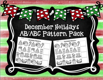 Christmas AB/ABC Pattern Pack