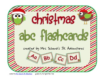 Christmas ABC Flashcards