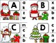 Christmas ABC Match-Up - Christmas Letter Matching Pocket Chart / Clip Cards