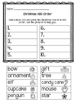 ABC Order - Christmas