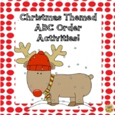 Christmas ABC Order Activities - Easy to use!  Grades 1 - 3
