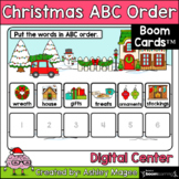 Christmas ABC Order  Center - Boom Cards - Digital Distanc