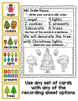 Christmas ABC Order Center/Station with differentiation options