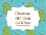 Christmas ABC Order Cut and Paste