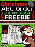 Christmas ABC Order Cut and Paste FREEBIE: Level 2