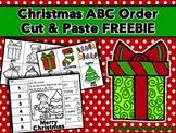 Christmas ABC Order Cut and Paste Printable---FREEBIE