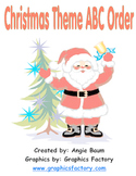 Christmas ABC Order - Differentiated