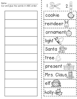 christmas abc order freebie by the neat and tidy classroom tpt. Black Bedroom Furniture Sets. Home Design Ideas