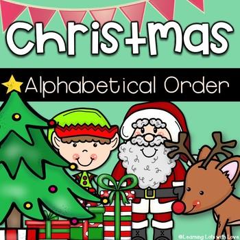 Christmas ABC Order Freebie!