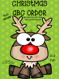 Christmas ABC Order Fun Center or Independent Practice Gra