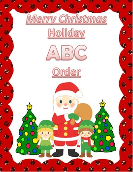 Christmas ABC Order Literacy Center