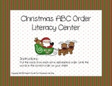 Christmas ABC Order Literacy-Word Work Center