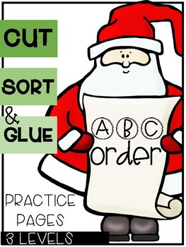 Christmas ABC Order Sorts (3 Levels)