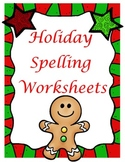 Christmas ABC Order Spelling Worksheet ***You can use with