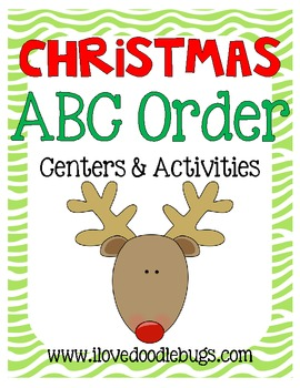 Christmas ABC Order Unit: Teaching & Reviewing ABC order