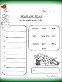 Christmas ABC Order Worksheet Printable