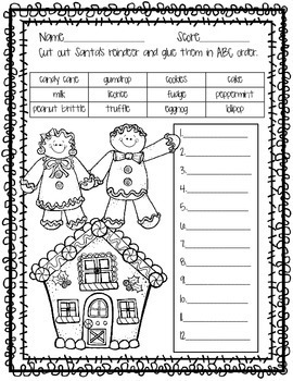 Christmas ABC Order Worksheets{Set of 4}