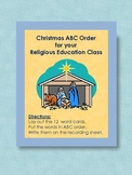 Christmas ABC Order for your Religious Education Class