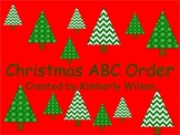 Christmas ABC order activity