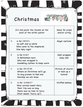 Christmas ABC play for early readers
