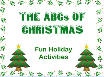 The ABCs of Christmas  - A Fun Holiday Activity Flipchart