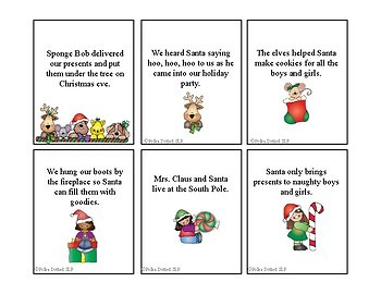 Christmas Absurd Sentences for Speech/Language