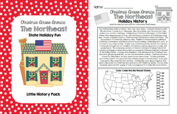 Christmas Across America - The Northeast States Holiday Fun Pack