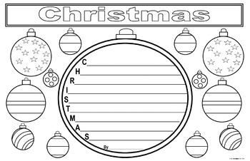 Christmas Acrostic Poem