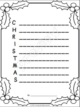 Christmas Acrostic Poem  All Ages