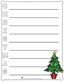 Christmas Acrostic Poem FREEBIE