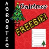 Christmas Acrostic Poem FREEBIE