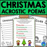 Christmas Acrostic Poems | Christmas Writing Activity