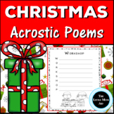 Christmas Acrostic Poems | Christmas Creative Writing Activity