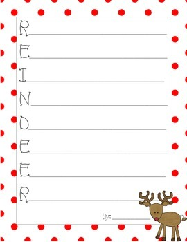 Christmas Acrostic Poems Pack