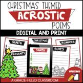Christmas Acrostic Poems | Winter Poetry | December Poetry