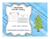 Christmas Acrostic Poetry