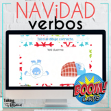 Christmas Action Verbs Boom Cards for Spanish Speech Therapy